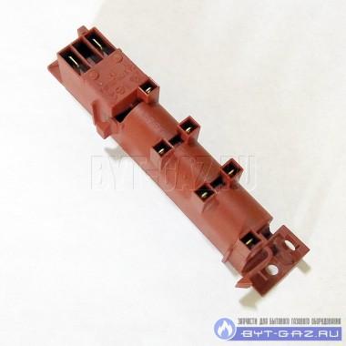 Блок розжига 6-и канальный многоискровой для газовых плит Гефест, Дарина (GDR 24600, WAC-T6, WAC-6A, WAC 6 HT, WAC-N6)