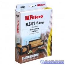 """Набор пылесборников Filtero FLS 01 (S-bag), бумажные """"Эконом"""", 4 шт."""