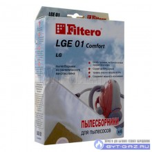 """Набор пылесборников Filtero LGE 01 """"Комфорт"""", микроволокно, 4 шт."""