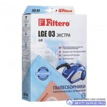 """Набор пылесборников Filtero LGE 03, микроволокно """"Экстра"""" антиаллергенный, 4 шт."""