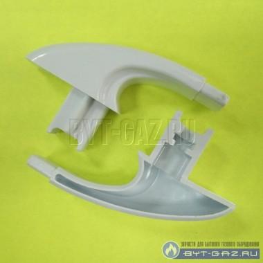 Крепление, кронштейн, ручки духовки плиты Брест Гефест-300 белое комплект (300.03.0.005)