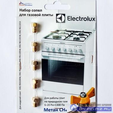 """Набор сопел, жиклеров, форсунок газовой плиты """"Electrolux"""" (природный газ)"""